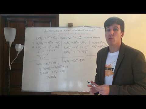 Диссоциация кислот, оснований и солей. Самоподготовка к ЕГЭ и ЦТ по химии
