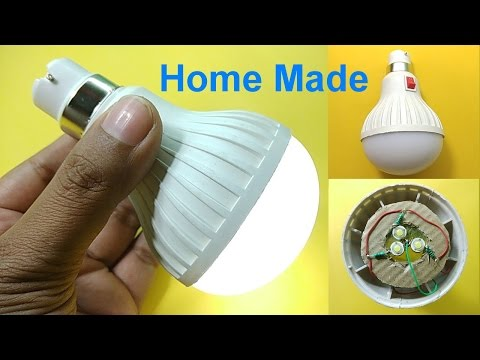 Portable LED Light bulb Home made ( RECHARGEABLE )