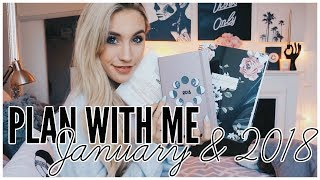 Plan With Me January | 2018 RESOLUTIONS & GOALS
