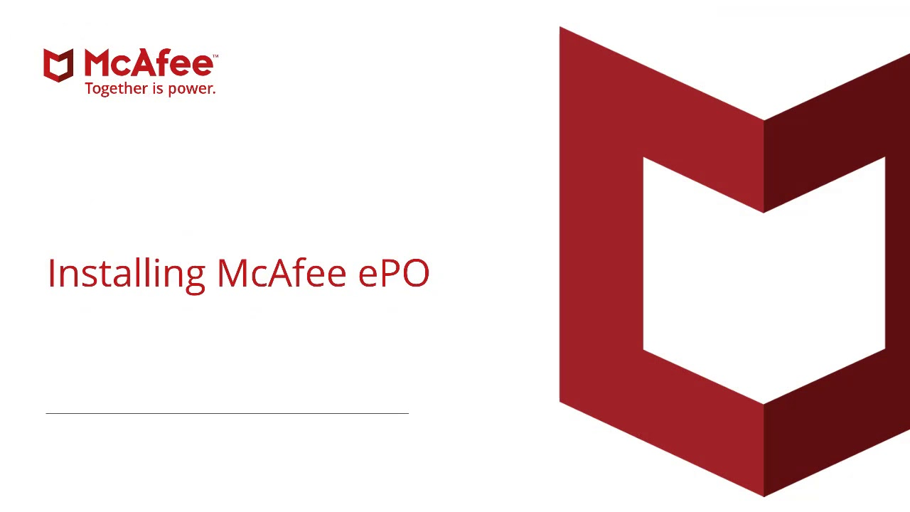 McAfee ePolicy Orchestrator (ePO) Install and Installation Tips
