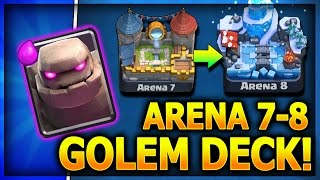 ARENA 7-8 GOLEM DECK!! F2P with No Legendary Cards! Get to Frozen Peak Arena 8 Clash Royale Strategy