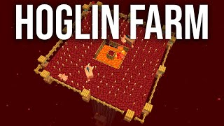 How to Build an Automatic Hoglin Porkchop Farm in Minecraft!! (Tutorial)