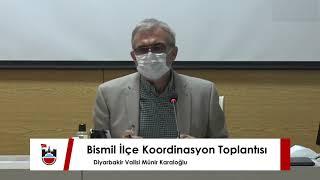 Vali Münir Karaloğlu Bismil İlçemizde Koordinasyon Toplantısı Gerçekleştirdi