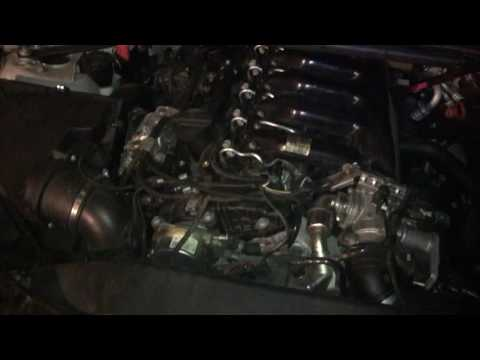 BMW 335d - Engine Bay - Turbo Oil Line Leaking