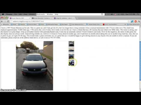 Craigslist Alabama Used Cars for Sale by Owner - YouTube