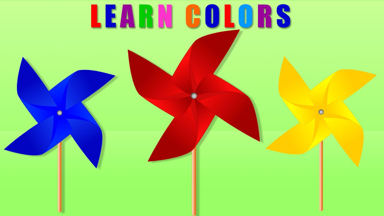 Learning Colors for Children | Learn Colors With WINDMILL Cartoon ...