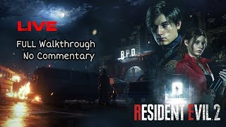 Resident Evil 2 Remake Live (Leon's Story ) FULL Game  No Commentary