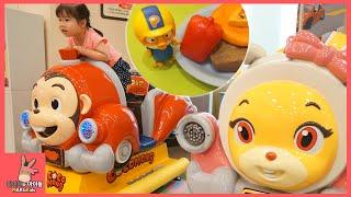 뽀로로 함께 코코몽 키즈 카페 요리 자동차 장난감 놀이 ♡ 어린이 테마 파크 죽전점 #3 Indoor Playground Fun Play | 말이야와아이들 MariAndKids