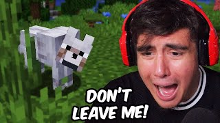 My Most STRESSFUL Minecraft Experience For Me So Far Was Trying To Get A Dog | Minecraft [3]