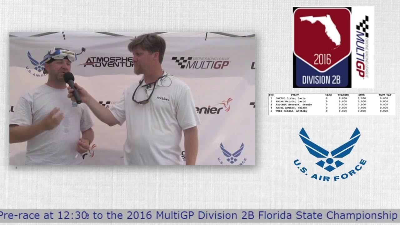 2016 MultiGP 2B Florida Finals Bruce Daley from UBAD Interview