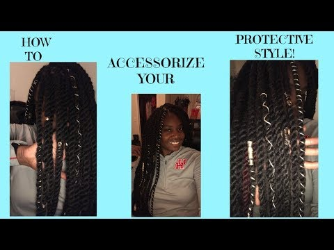 How to accessorize your protective style! | work appropriate
