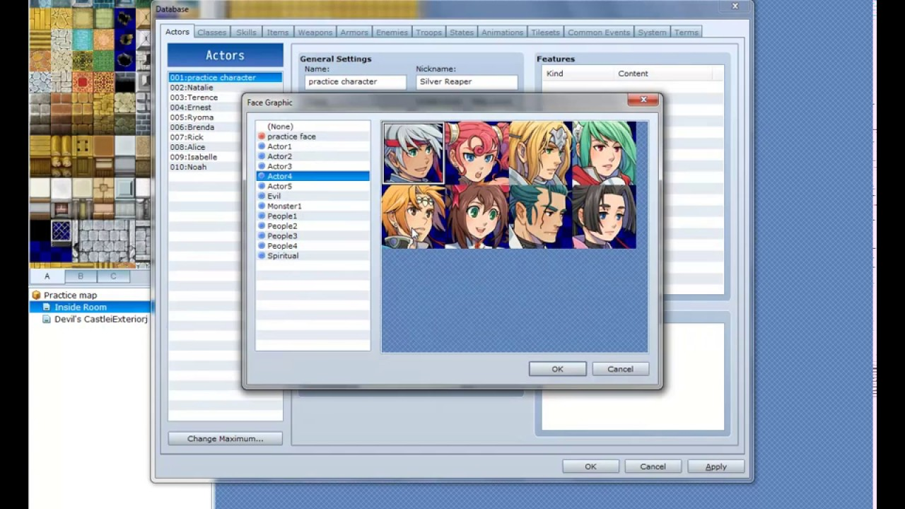 How to use the character Generator RPG Maker VXAce