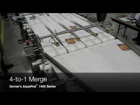 4-to-1 Packaging Conveyor Merge