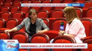 Marius Manole, actor din intamplare