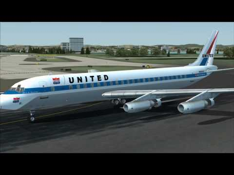FSX - DC-8-10 series - JT3C turbojet engine sounds - xviews