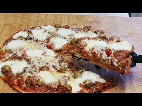 pizza-au-bŒuf-hachÉ-rÉalisÉe-a-la-poÊle-Économique-et-facile-(cuisine-rapide)