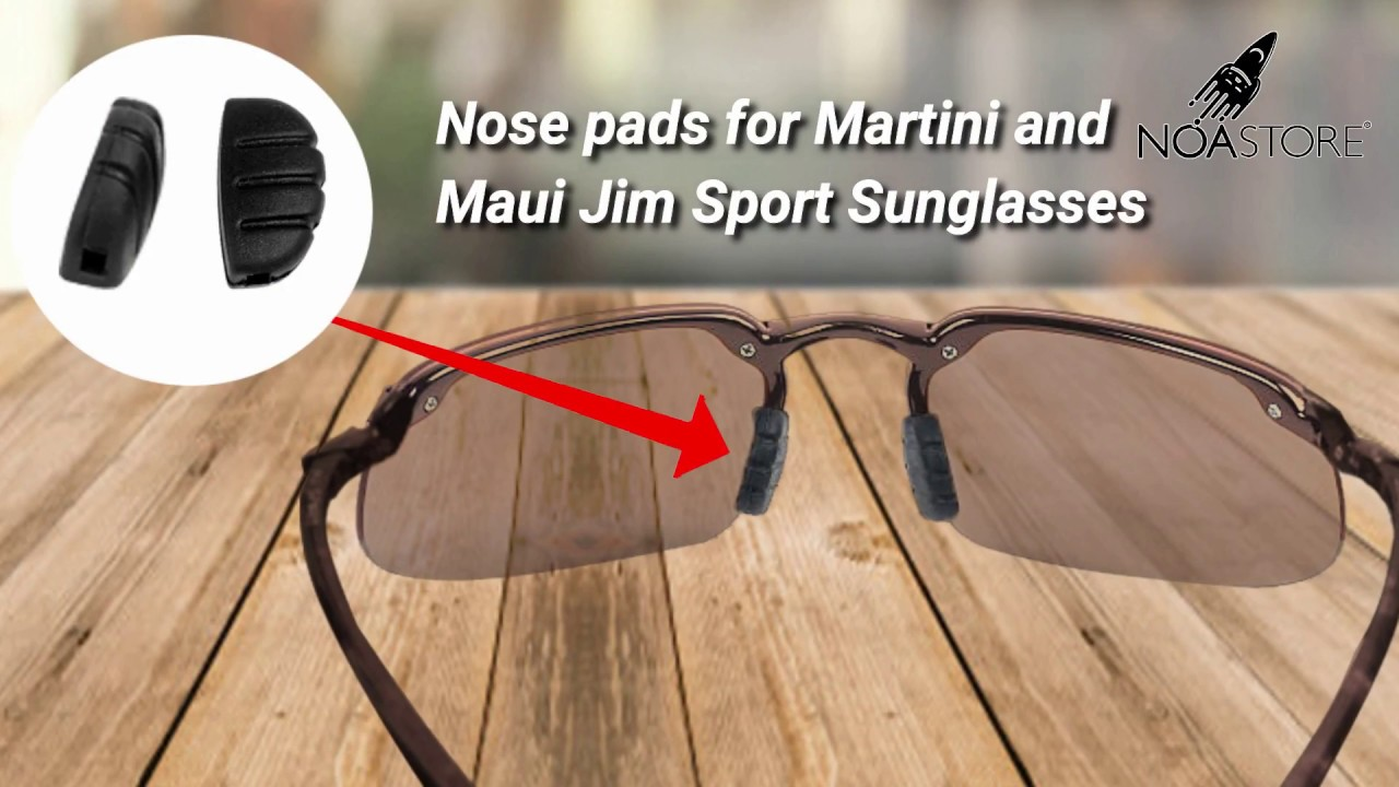 189361f3925 Nose pads Replacement (Martini and Maui Jim Sport Sunglasses) - YouTube