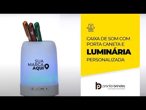 PRONTO BRINDES - CAIXA DE SOM COM PORTA CANETA E LUMINÁRIA - 2017-0011