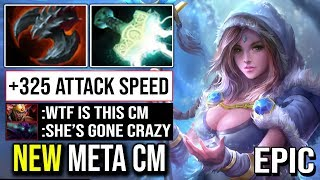 WTF ATTACK SPEED CRYSTAL MAIDEN - New Meta Super Carry CM Destoyed Spectre Crazy Fun Build | Dota 2