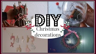 DIY ✧ Festive, Cute and Easy Christmas Decorations Thumbnail