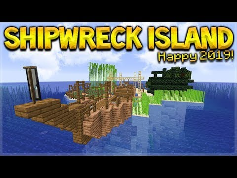 MINECRAFT 1.14 - SHIPWRECK SURVIVAL ISLAND! WELCOME TO 2019! (Dinnerbone Seed)