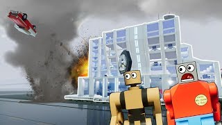 MASSIVE LEGO EF5 TORNADO DESTROYS LEGO CITY! - Brick Rigs Gameplay - Lego Tornado Survival