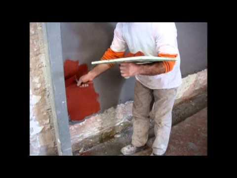 видео: Кирпичная стена штукатурка