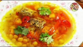 """Суп """"Золотая осень"""" с говядиной и нутом. Просто, вкусно, недорого."""