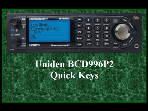 UNIDEN BCD996P2 SCANNER: Understanding System & Group Quick Keys