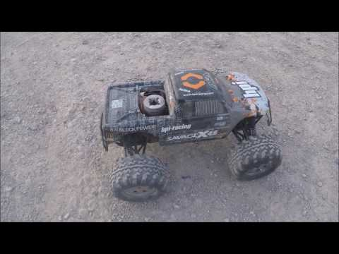 The HPI Savage X 4.6 Big Bloc Nitro Truck - playing up....