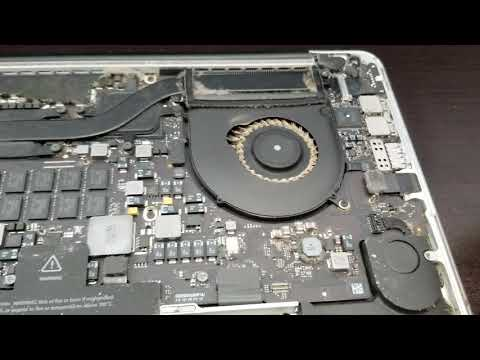 A look inside a dusty Macbook Pro. Precautions and what to do about it.