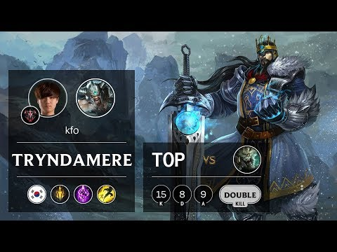 Tryndamere Top vs Rengar - KR Grandmaster Patch 9.13