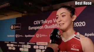 Final Maçı Sonrası Röportajları  Eda Erdem,Zehra Güneş,Giovanni Guidetti