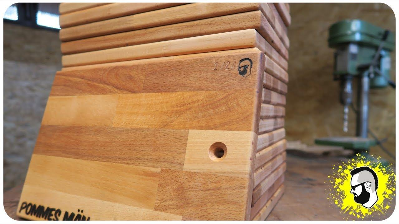 schneidebrett selber bauen aus holz zu verschenken youtube. Black Bedroom Furniture Sets. Home Design Ideas