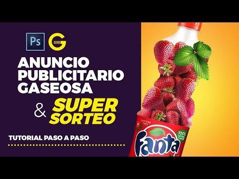 Photoshop Tutorial | Diseño Anuncio Publicitario Gaseosa & SUPER SORTEO thumbnail