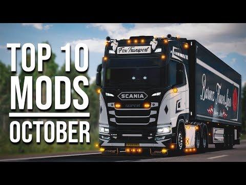 TOP 10 ETS2 MODS - OCTOBER 2019 | Euro Truck Simulator 2 Mods