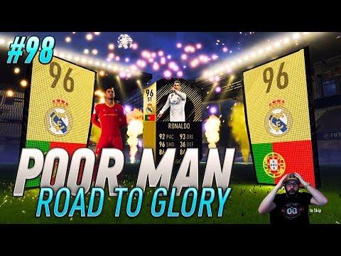 I PACK INFORM STRIKER 96 RONALDO ON THE ROAD TO GLORY!! Poor Man RTG #98 - FIFA 18 Ultimate Team