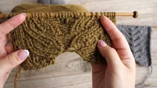 Узор «Ложная двойная коса спицами» спицами | «False Cables» knitting pattern