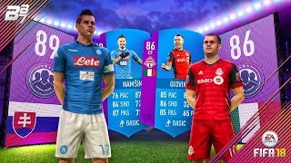 MASSIVE WALKOUT! SBC GIOVINCO AND HAMSIK LEAGUE SQUAD BUILDER CHALLENGES! | FIFA 18 ULTIMATE TEAM