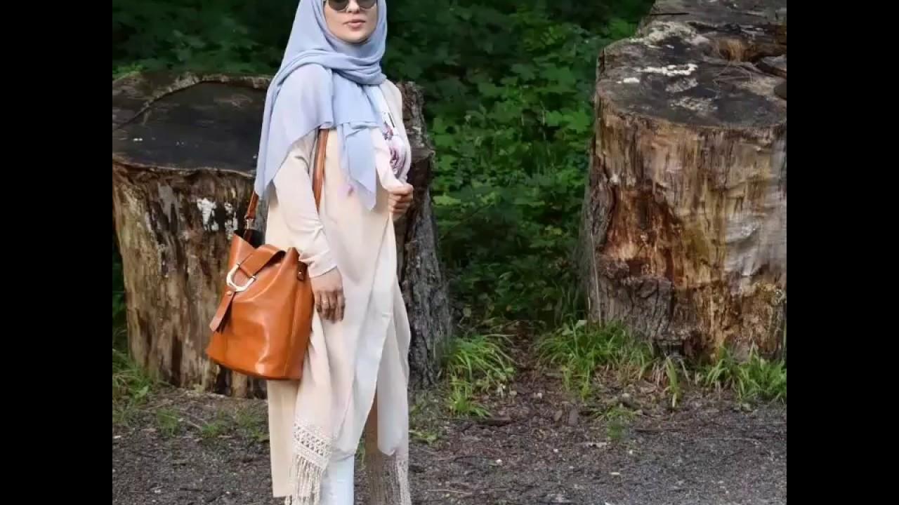 85ce7b1b5 تنسيق ملابس محجبات شتاء 2018 Winter hijab lookbook - YouTube
