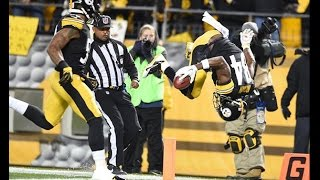 Antonio Brown Front Flips into the End Zone, Sticks Landing PERFECTLY