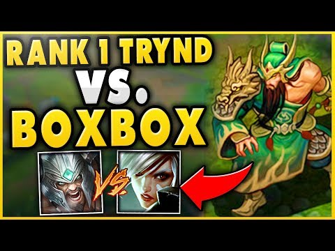 1 TRYNDAMERE WORLD VS BOXBOX RIVEN ULTIMATE BATTLE FT YASSUO TRICK2G - League of Legends