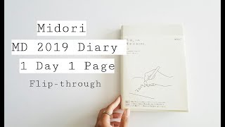 Midori MD Notebook Diary 1Day 1Page: Flip-Through Review