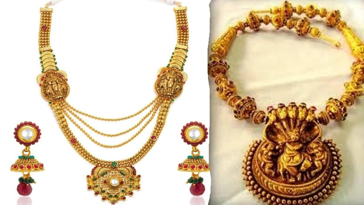 Beautiful Temple Necklace Jewellery Set For Wedding YT Fashion ...
