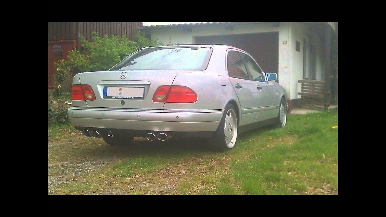 mercedes benz e420 w210 exhaust - youtube