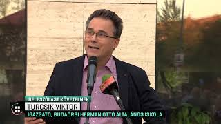 Szülők, diákok, tanárok tüntettek kedd kora este Budaörsön! 19-10-02