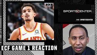 Stephen A. Smith reacts to Trae Young and the Hawks' ECF Game 1 win | SportsCenter