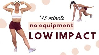 45 MINUTE LOW IMṖACT HIGH INTENSITY WORKOUT - No Equipment +Apartment Friendly