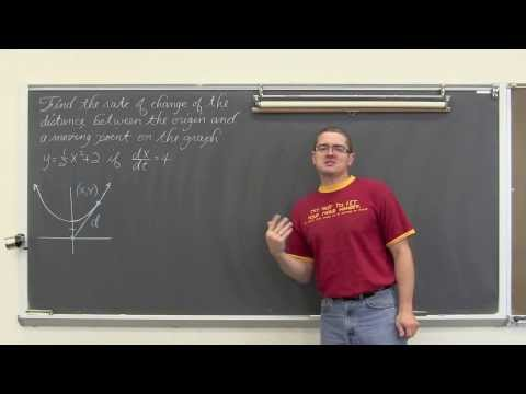 Related Rates in Calculus Part 1
