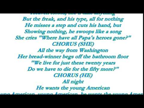 david bowie young americans lyrics